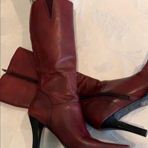 BP Burgundy Knee High Boots